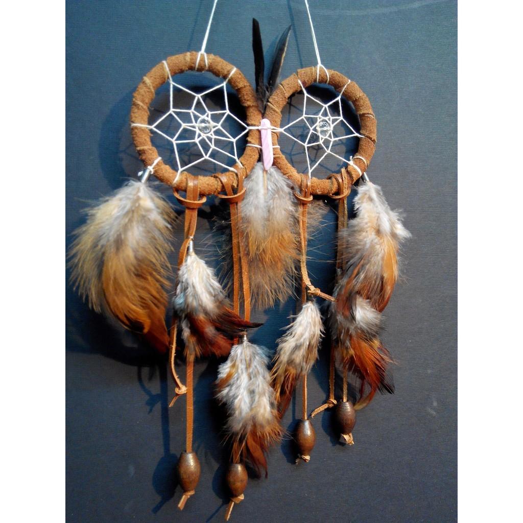 捕夢網材料包,民俗風貓頭鷹coco ,印第安的祝福,方絨繩彩珠羽毛手作