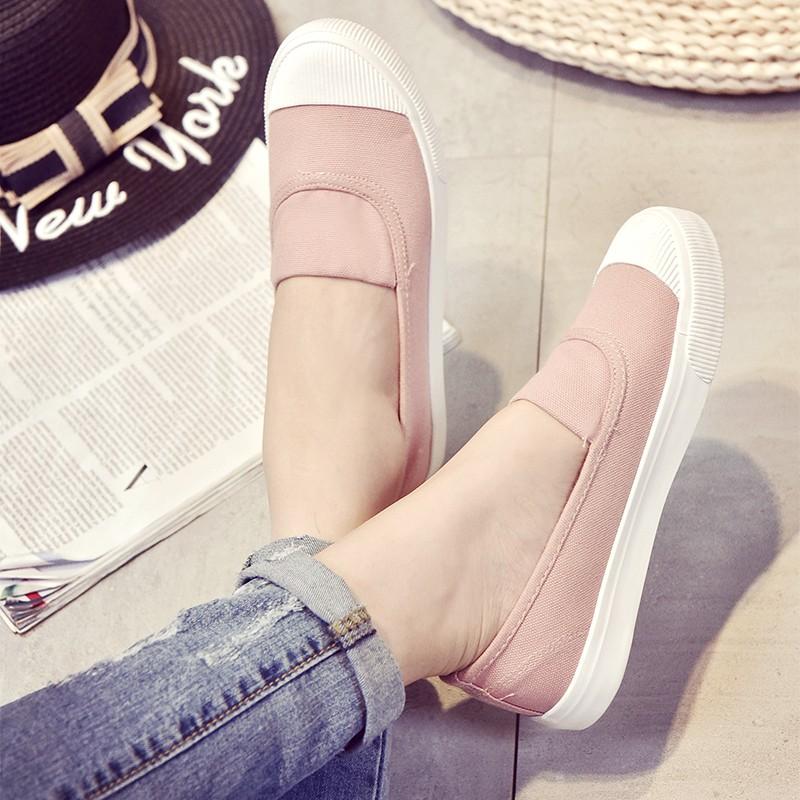 單鞋透氣懶人鞋套腳平底腳蹬帆布鞋潮鞋尖頭高跟鞋厚底涼鞋厚底跟鞋楔形涼鞋楔形跟鞋娃娃鞋豆豆鞋