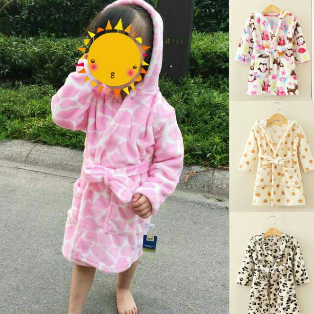 ❄ 新品❄可愛男女童珊瑚絨浴袍睡袍( 7 14 天不含假日)