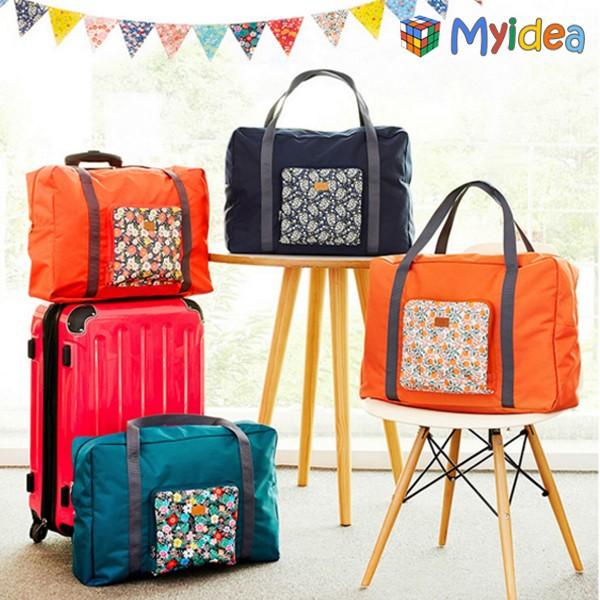 旅遊好好玩花色收納包旅行袋短途單肩行李袋行李包超大容量可摺疊旅行收納包登機包可肩背可手拎衣