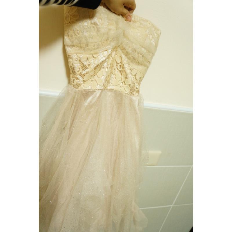 香檳色平口小禮服