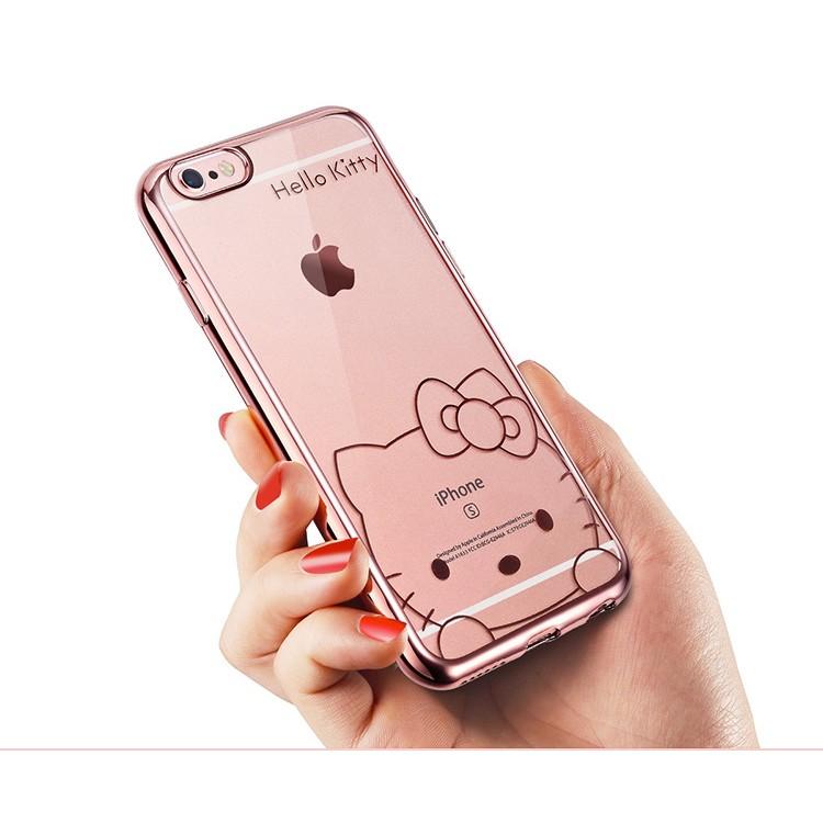 ❤️Hello Kitty 鍍金軟殼TPU 手機殼iPhone 6 6s plus 電鍍玫