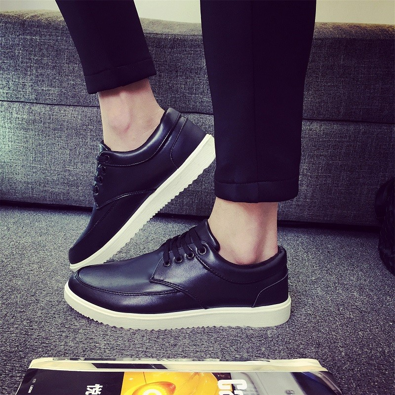 男皮鞋懶人鞋休閒鞋 鞋英倫鞋皮鞋球休閒鞋子休閒皮鞋 鞋子 皮鞋2016  男士 板鞋 鞋黑