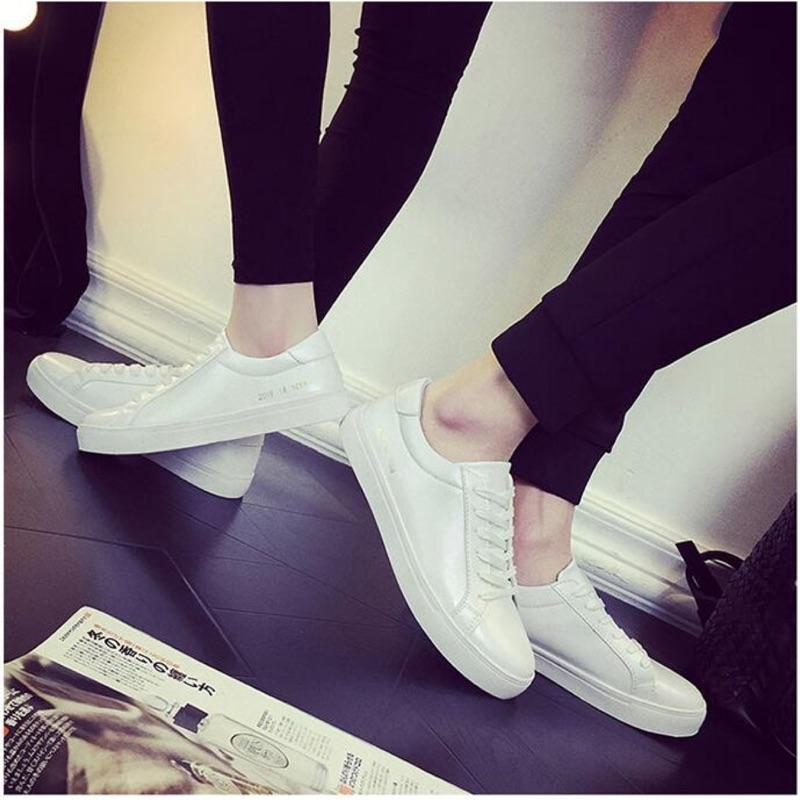 白色板鞋男士小白鞋2016 情侶款休閒鞋小碼黑色潮鞋百搭男鞋子