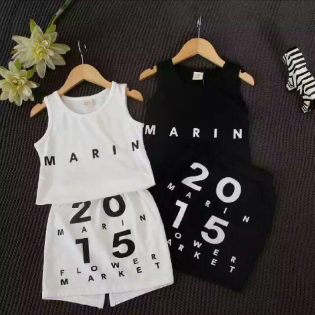 女 MARIN 背心裙2 件套裝(黑)