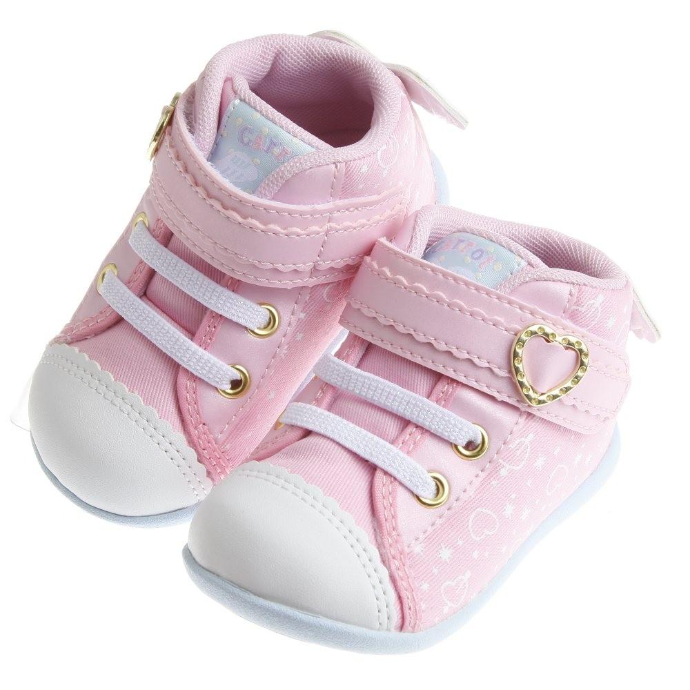 童鞋Moonstar Carrot 粉色天使小翅膀寶寶機能學步鞋12 5 14 5cm I