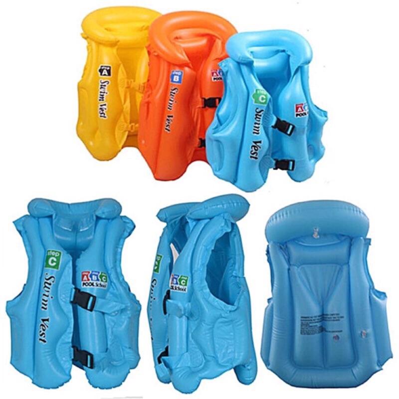 兒童充氣背心遊泳衣兒童救生衣浮潛救生圈遊泳圈大中小童男女