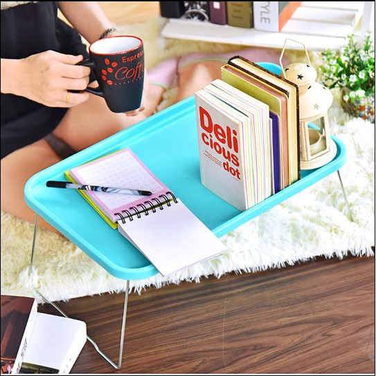 伊觸園折疊電腦桌宿舍床上用懶人餐桌家用學生簡易筆記本小桌子