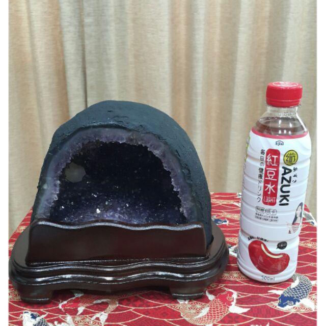 ~巴西~超可愛小饅頭桌上型小晶洞帶方解石附座4 63kg