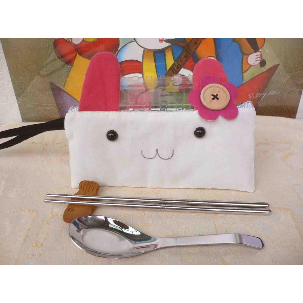最 的贈品環保隨身筷不鏽鋼筷湯匙原木筷架貓咪提袋餐具 結婚禮小物二次進場伴娘禮喝茶情人節聖