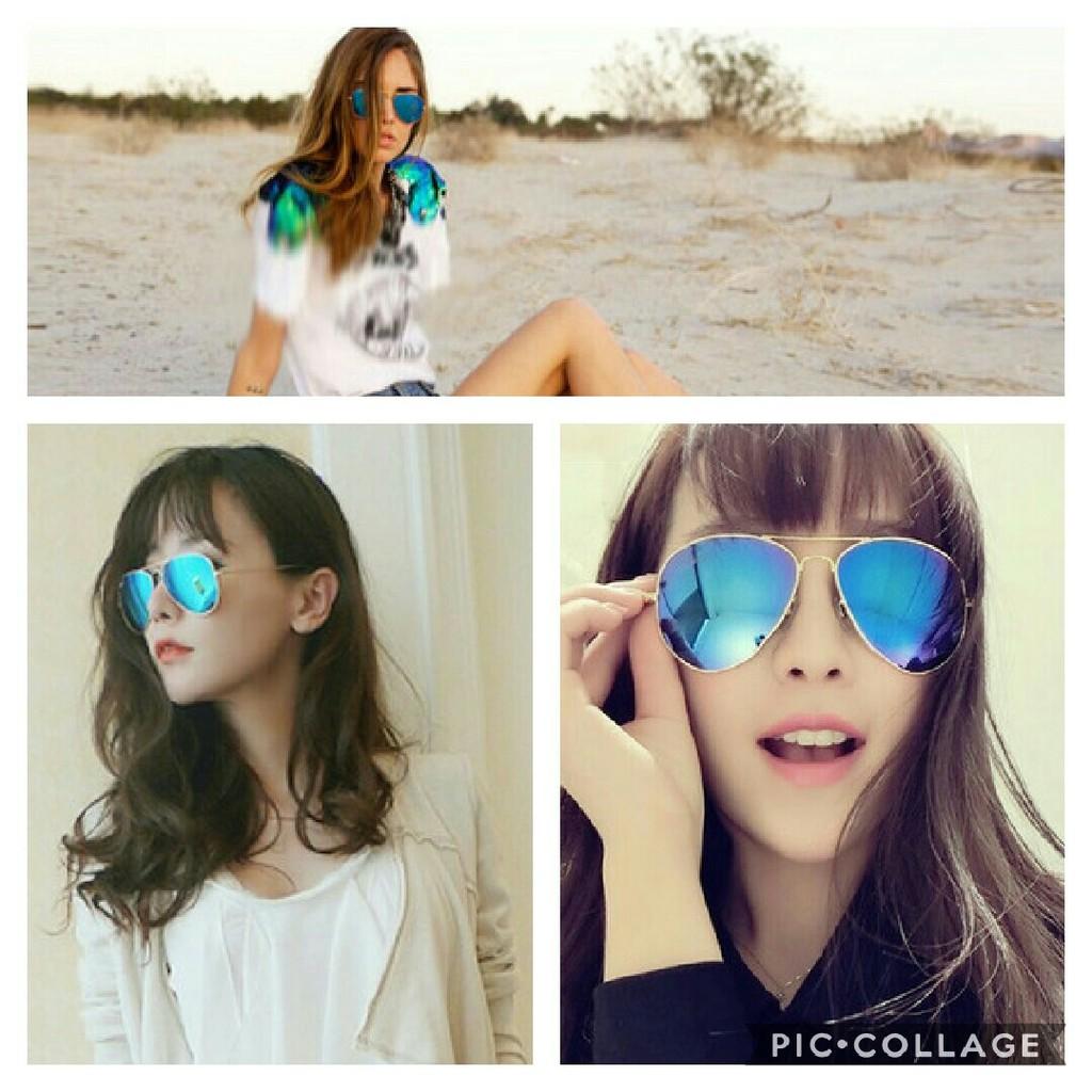 按加關注送眼鏡袋和眼鏡布雷朋眼鏡太陽眼鏡男女 墨鏡宋仲基明星同款復古金屬框太陽的後裔