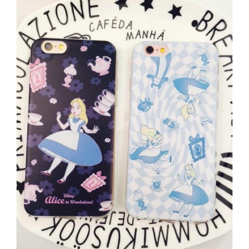 卡通迪士尼公主系列愛麗絲軟殼手機殼iphone7 7plus 蘋果Apple iphone