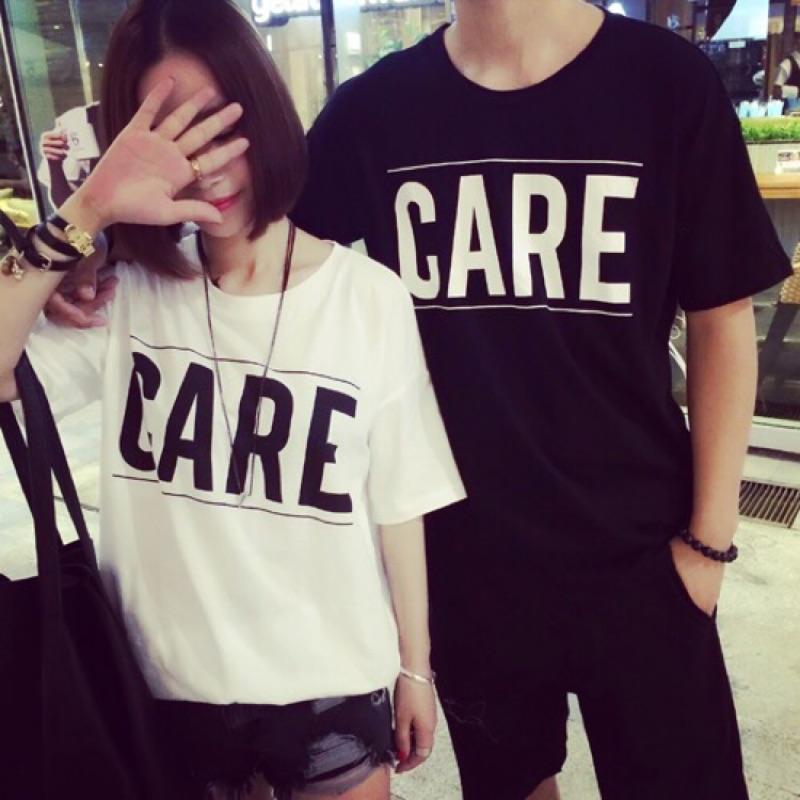情侶裝夏裝2016 韓國 短袖T 恤男女學生休閒情侶套裝班服潮