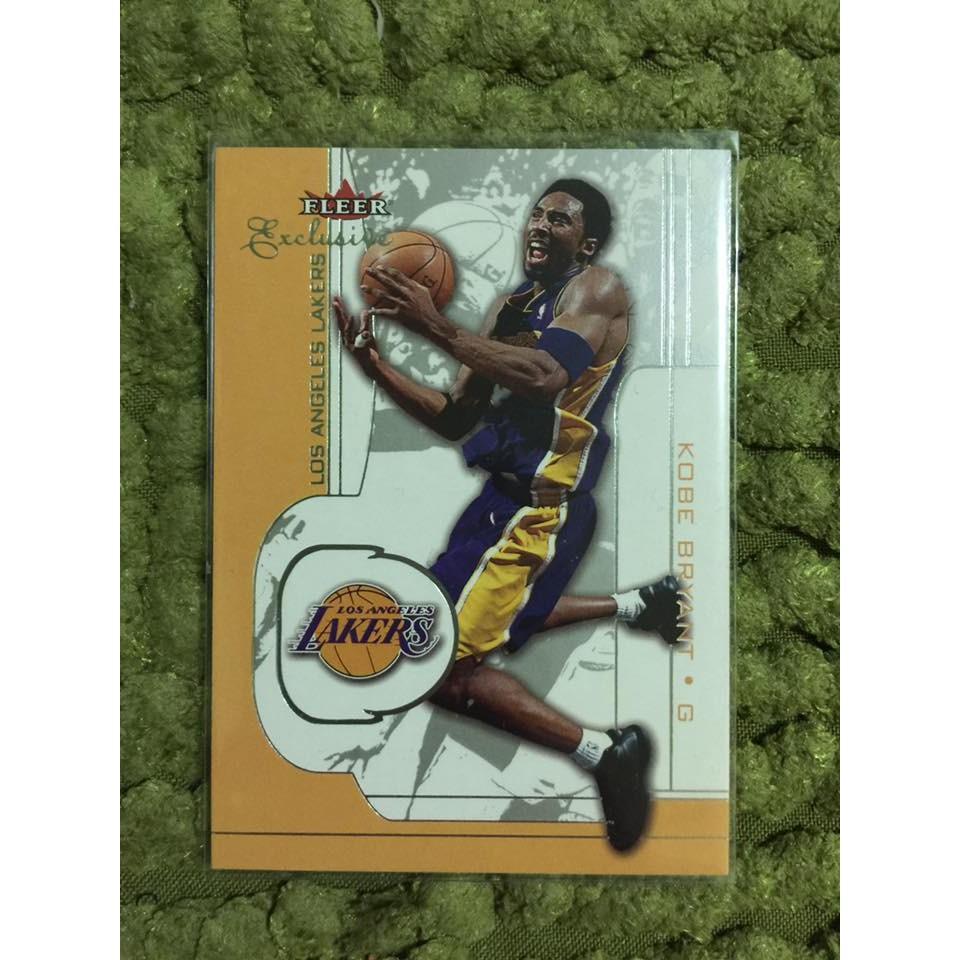 Kobe Bryant 布萊恩小飛俠2002 fleer 4 NBA 球員卡湖人黑曼巴退休