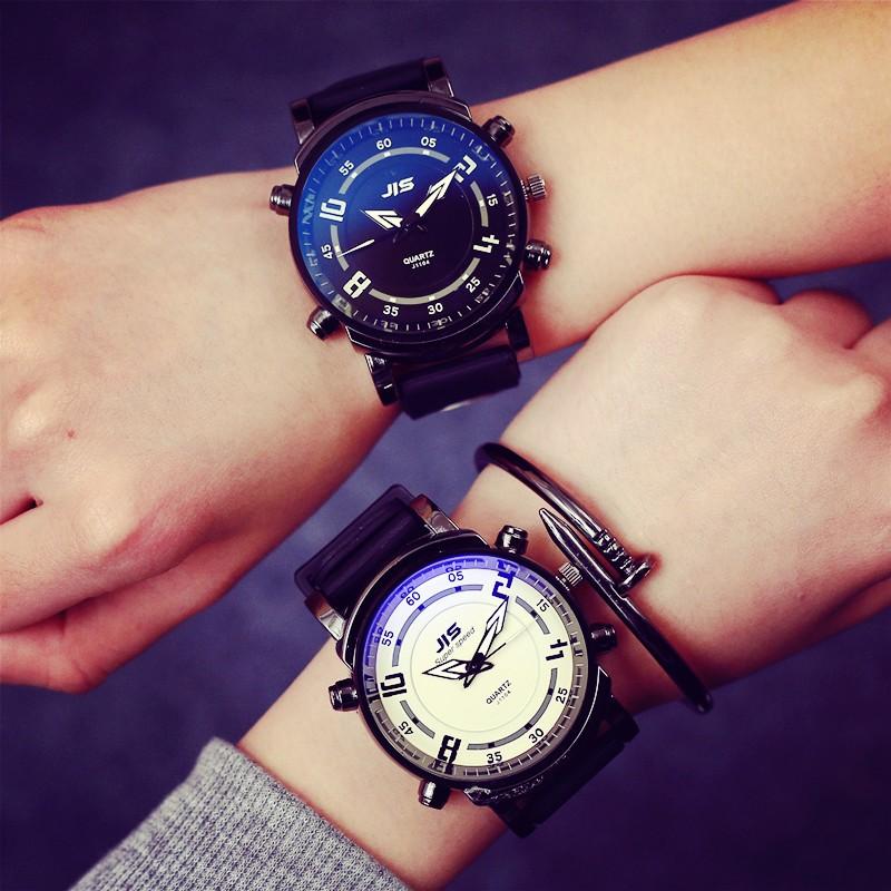 潮流風景線๑大賣場๑韓國 原宿風潮男女大表盤情侶手表女潮表橡膠手表