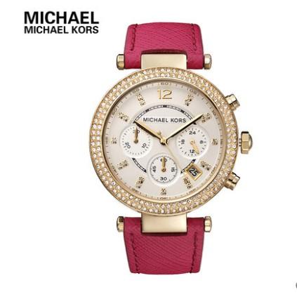 ~羙娜 ~ Michael Kors 手錶女錶MK 手錶鑲鑽 腕錶三眼 裱MK2297 M