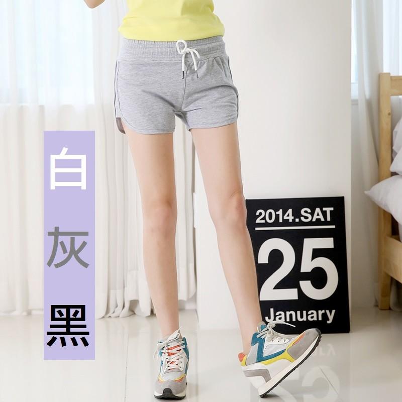 GGshop ~ 休閒短褲~ 顯瘦美式棉褲三分褲短褲A012