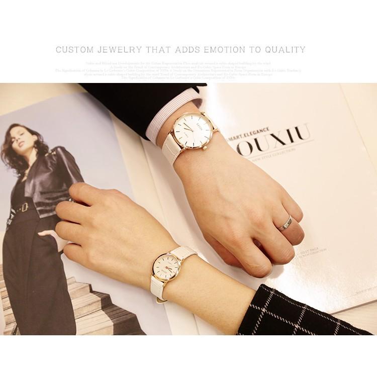 休閒復古 潮流簡約 原宿風英倫皮帶男錶對錶女錶情侶手錶學生錶石英表30