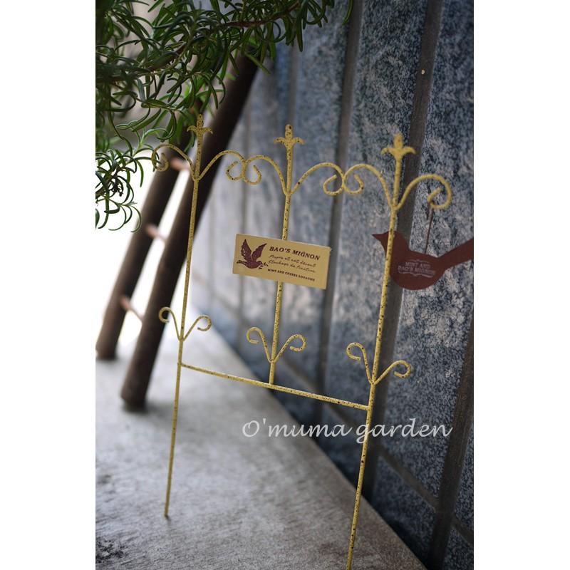 柵欄花插黃色復古作舊花園雜貨裝飾盆栽美化陽台小鳥法文歐木馬