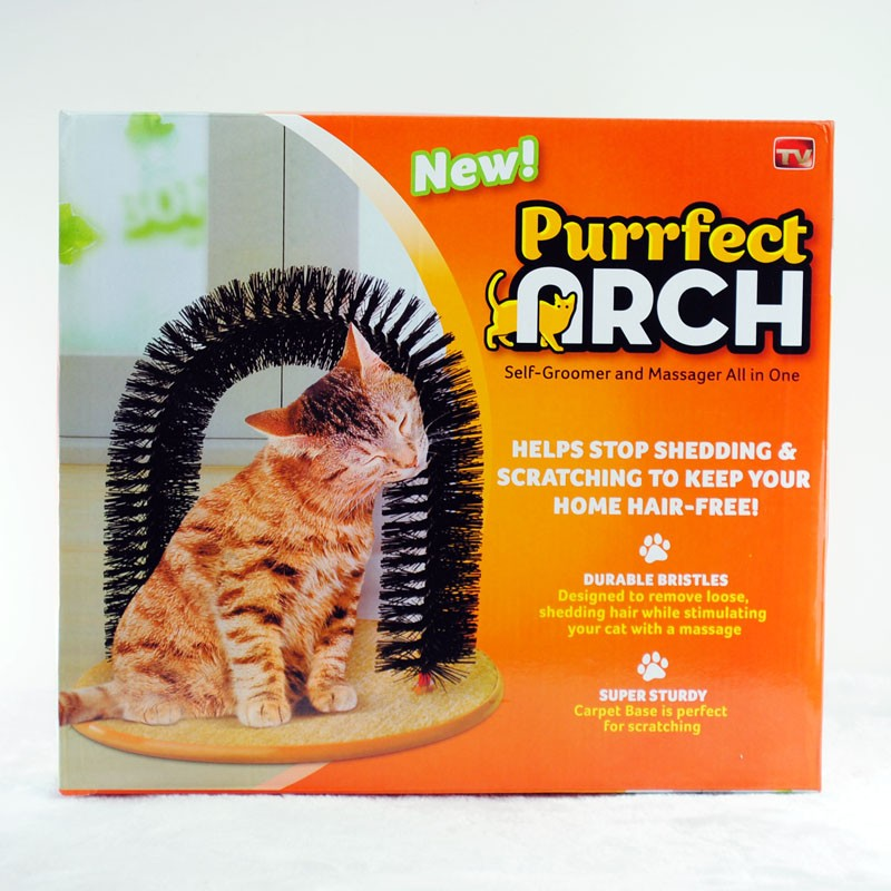 ~ ~Purrfect Arch 門型蹭毛貓刷器貓抓癢架貓咪抓癢蹭毛器貓抓板貓咪最愛