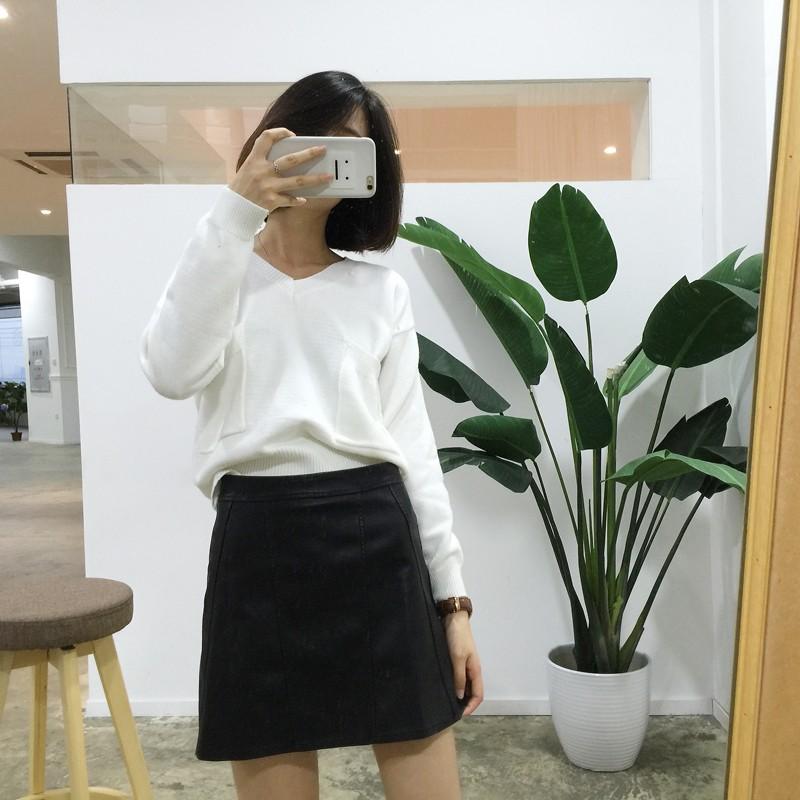 10 12  ✨C12 顯瘦皮革A字裙高腰短裙皮裙包裙黑裙半身裙 顯瘦裙子SML
