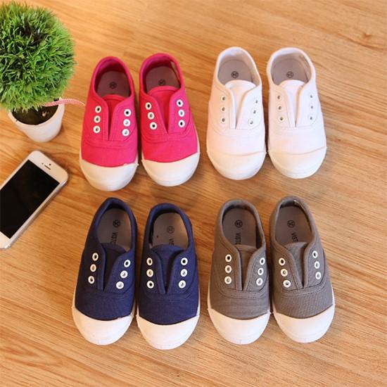 ~耐心等候~2016 秋款 兒童鞋子外貿水洗女童寶寶淺口布鞋帆布鞋
