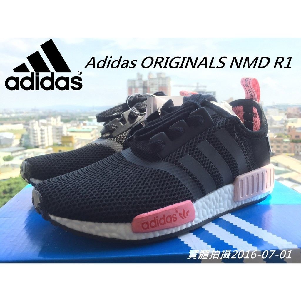 拍攝Adidas ORIGINALS NMD R1 W WMNS 黑粉S75235 S75