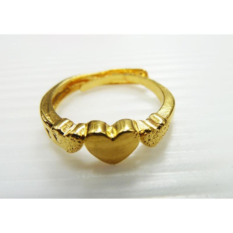鍍18K 24K 沙金防過敏精美女士開口戒指結婚訂婚節日送禮生日送禮精製特別款