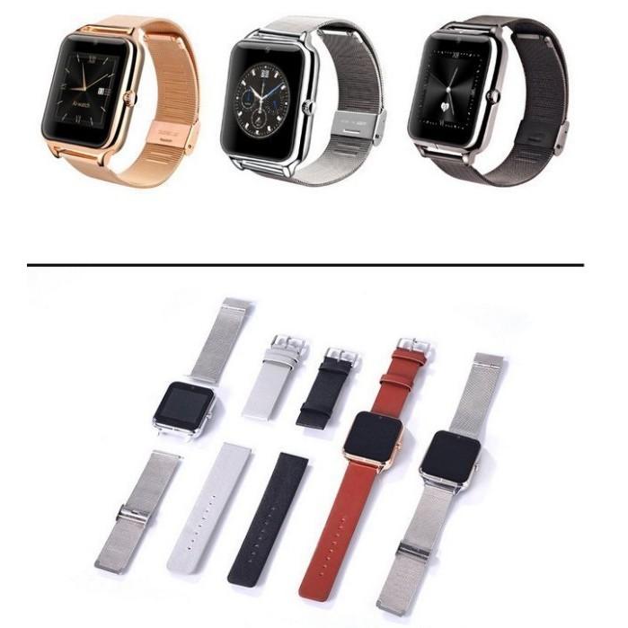Z50 智慧手錶全金屬手錶可插卡藍牙手錶QQ 微信健康監測觸摸屏智慧型電話手錶863 2