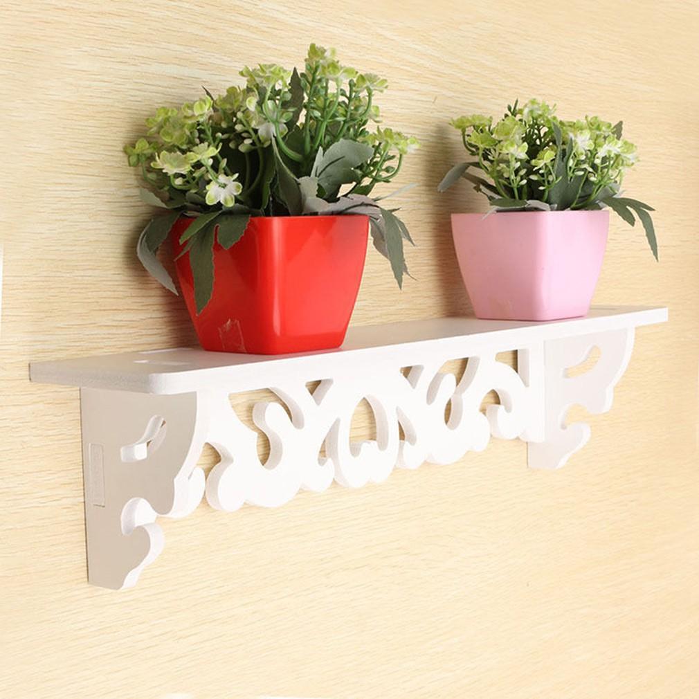 整套購買免 PVC 板白色雕花顯示牆存儲壁架
