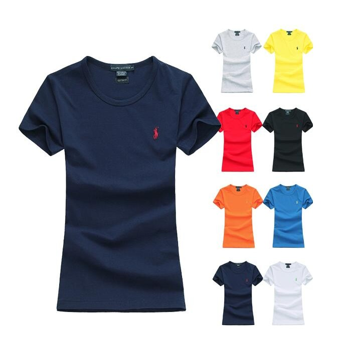 Ralph Lauren Polo 情侶裝素面小馬短袖T 恤圓領T 恤女T SHIRT 短