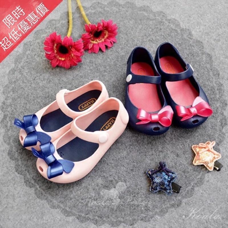 兒童蝴蝶結魚口防水香香果凍鞋軟膠鞋雨鞋娃娃鞋PU 軟底鞋