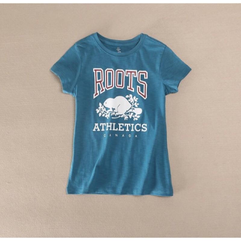 ‼️ ‼️16  4 12 歲男童女 正品Roots 海狸藍綠短袖T 恤XS XL