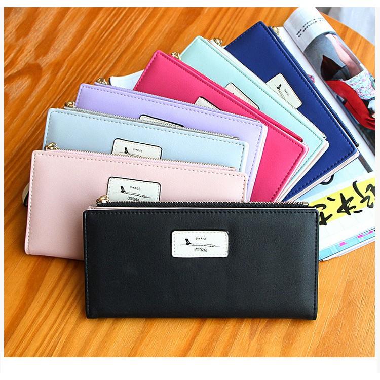 小清新手拿包款學生 女式錢包長款簡約零錢包超薄錢夾A037