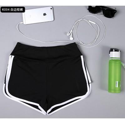 健身短褲女夏雙層透氣彈力寬鬆跑步瑜伽速乾防走光馬拉松 短褲