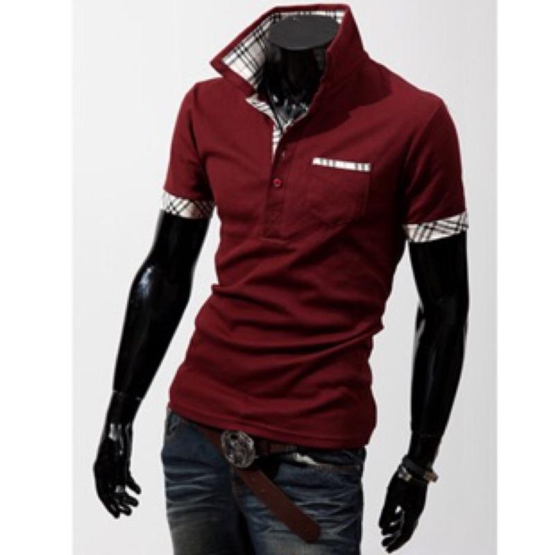 零碼 翻領輕薄Polo 衫有大 型男 中性修身上班襯衫短袖棉T 恤男短袖Polo 衫MiD