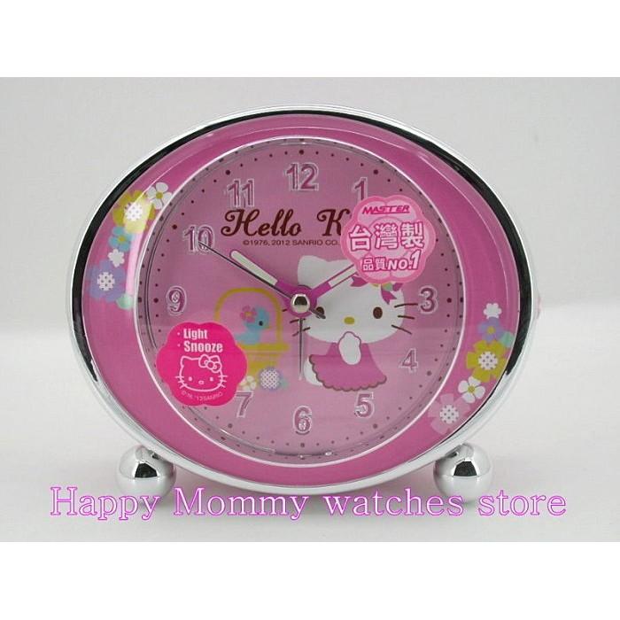 ~幸福媽咪~ 、門市服務Hello Kitty 凱蒂貓夢幻花樣超靜音貪睡鬧鐘JM E346