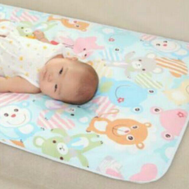 ~柚子比比~60 ×90 尺寸卡通三層尿布墊三層隔尿墊隨意鋪地板嬰兒床