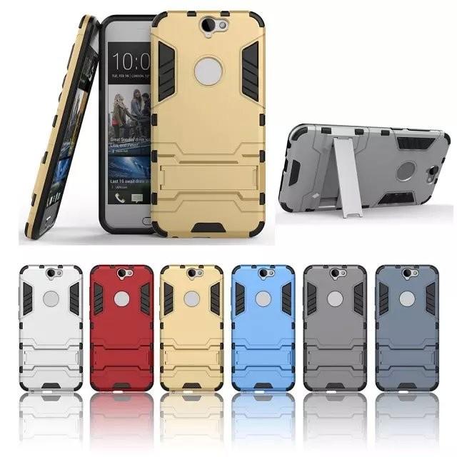 ~藍紅銀灰藍黑~HTC A9 手機殼鎧甲保護套鋼鐵人變形二合一防摔外殼支架殼保護殼矽膠殼硬