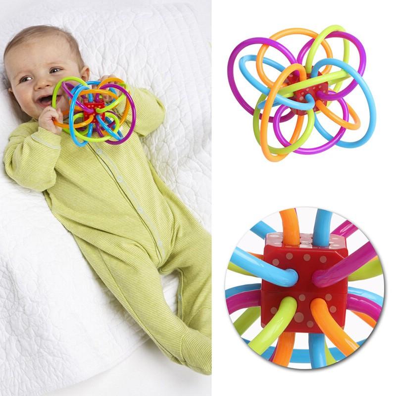 牙膠球嬰兒磨牙棒固齒器寶寶安撫器兒童玩具嬰兒最愛