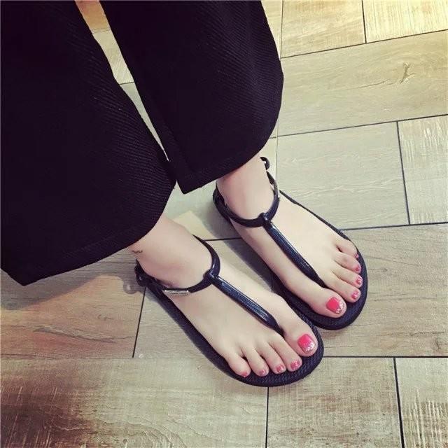 涼鞋女  夾腳趾女鞋簡約學生平底平跟 沙灘鞋潮尖頭高跟鞋厚底涼鞋厚底跟鞋楔形涼鞋楔形跟鞋娃