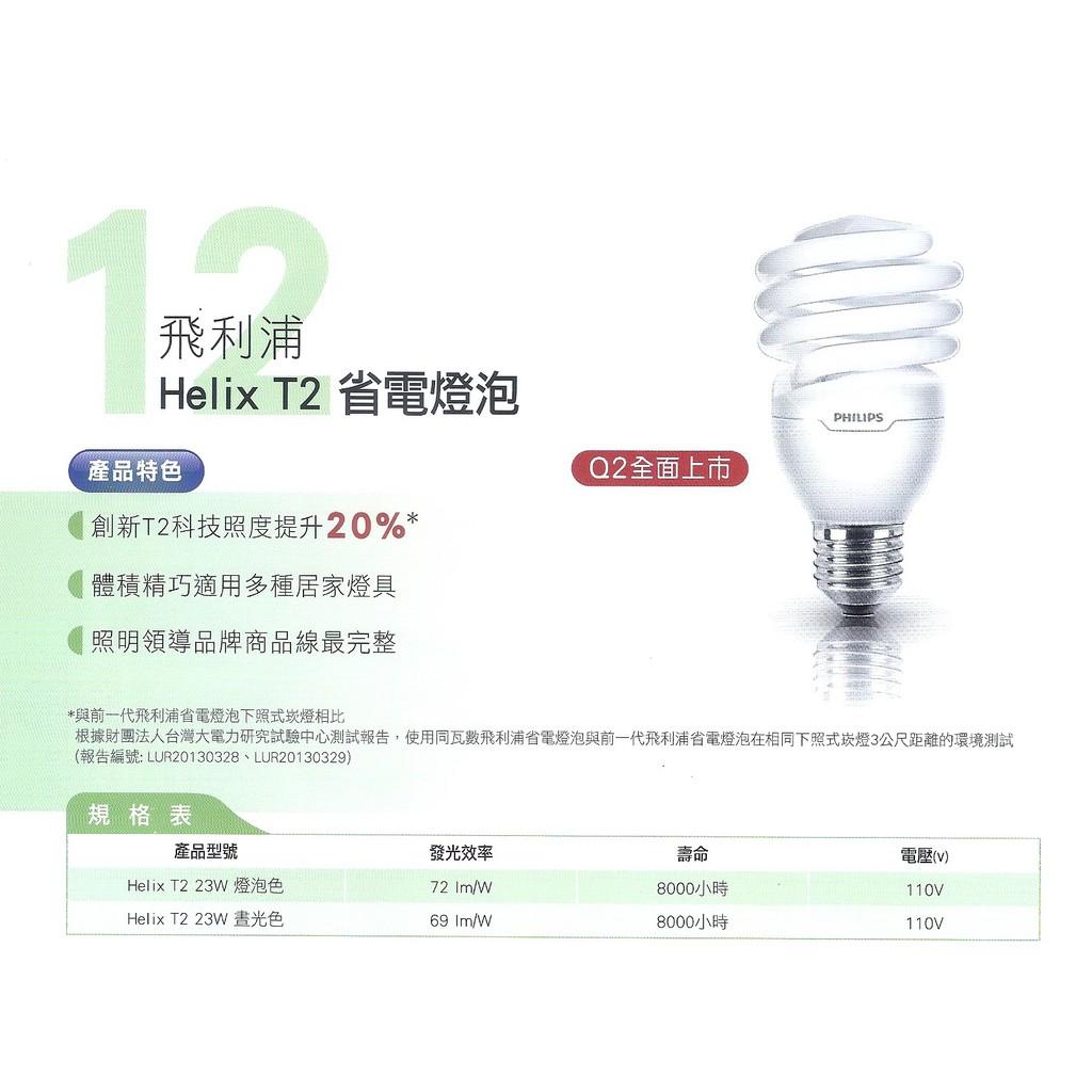 北歐 荷蘭飛利浦Helix T2 23W 110V 螺旋省電燈管燈泡居家店面照明 T2 省