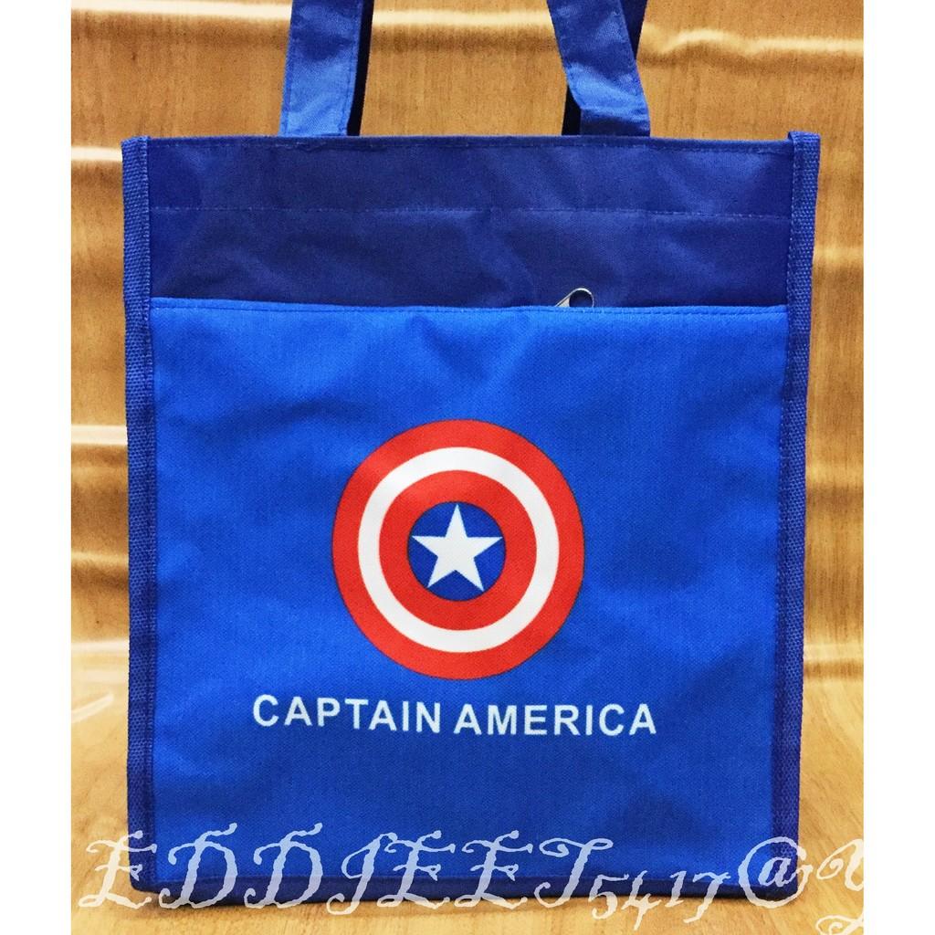 ~妮妮部屋~美國隊長兒童彩印手提袋便當袋外出袋