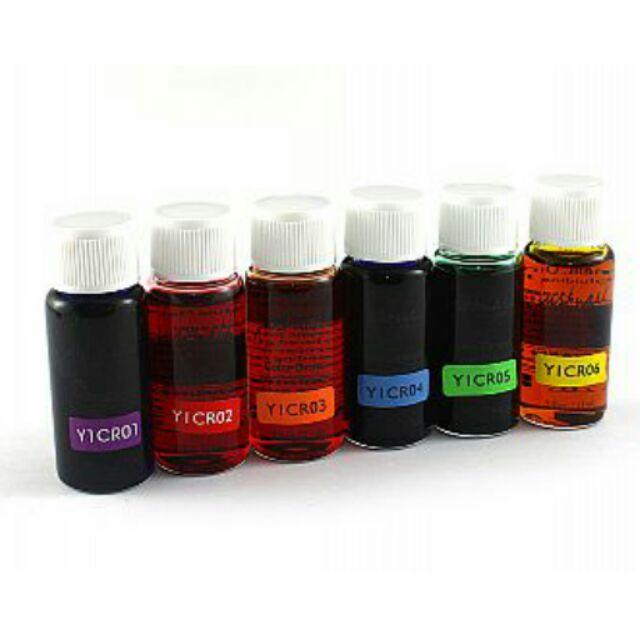 水晶指甲色水彩色溶劑琉璃彩液六色六色組水晶指甲溶劑