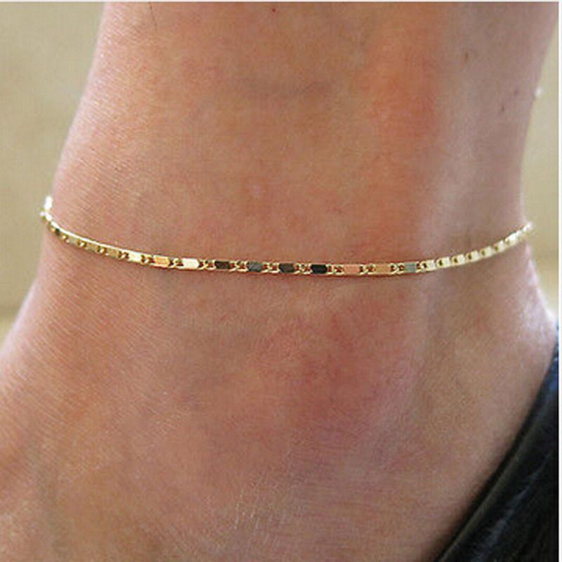 18k 金腳飾品簡單金鍊
