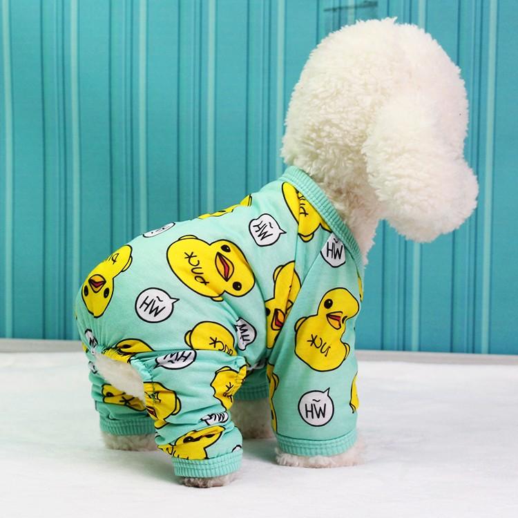 DP 雜貨鋪超柔軟的寵物黃色小鴨四腳衣貓狗衣服吉娃娃比熊貴賓博美馬爾濟斯