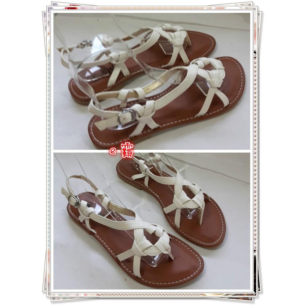 涼一夏真皮涼鞋白色1008