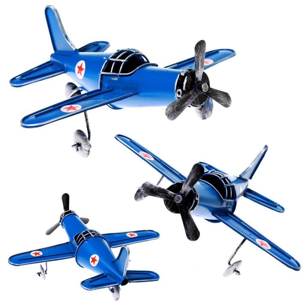 復古飛機模型擺設Uncle Way 威叔叔ZAKKA 居家裝飾裝飾鐵藝模型老爺車飛機摩托車