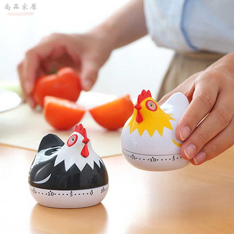 精品小雞計時器 小雞造型鬧鐘 計時器 操作簡單 廚房創意倒計時鬧鐘小雞 廚房提醒器 計時器