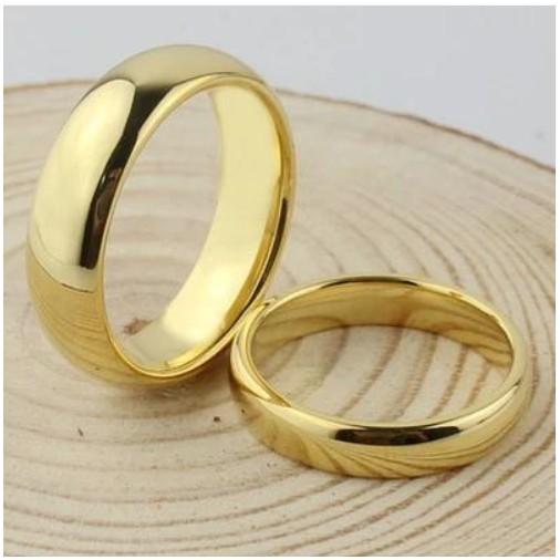 鎢金仿真黃金戒指尾戒男女款式情侶對戒鍍純金 霸氣大碼指環